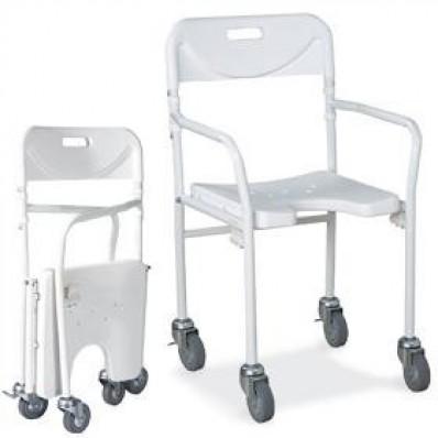 Sedia doccia pieghevole per anziani e disabili