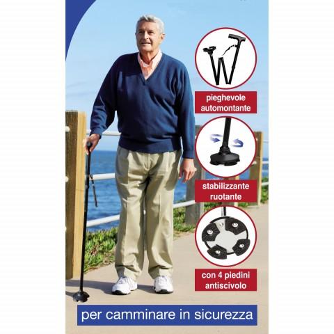 Bastone da passeggio con 4 piedini -  Walking Cane Rekordsan