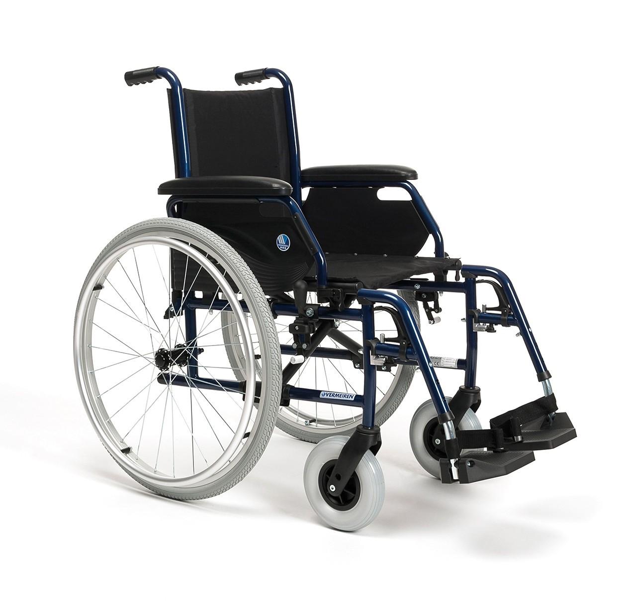 Carrozzina pieghevole per anziani e disabili vermeiren for Sedia a rotelle kuschall