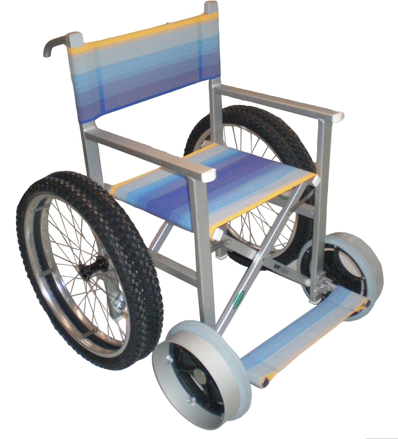 Carrozzina mare per Disabili Solemare 4 ruote pi¹ due