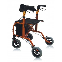 Deambulatore rollator e carrozzina City Partner 2 IN 1