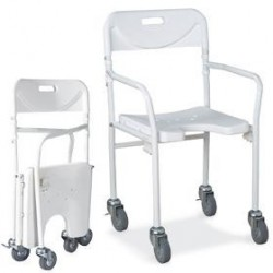 Sedia per doccia pieghevole con schienale e ruote Bend