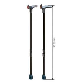 Bastone da passeggio in lega leggera regolabile