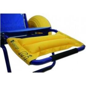 Poggiapiedi imbottito per sedia da mare disabili