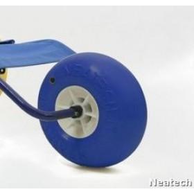 Ruota per sedia da mare disabili, terzo ruotino per sedia spiaggia disabili