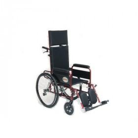 Carrozzina Repos con schienale reclinabile prolungato e poggiatesta per anziani o disabili.