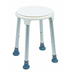 Sedile per doccia con base di appoggio ruotante