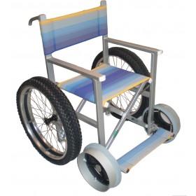 Carrozzina mare per disabili Solemare 4 ruote più due