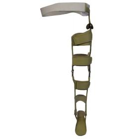 Tutore su misura articolato al ginocchio e coscia