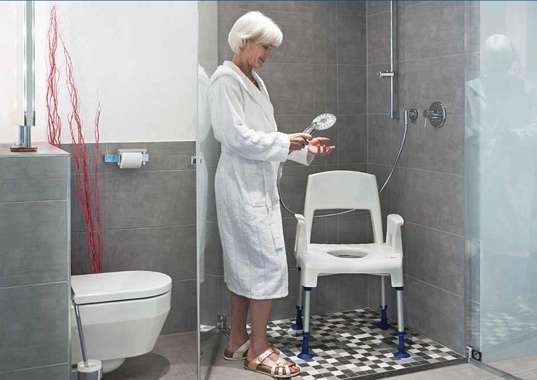 Sedia per doccia e wc per anziani e disabili - Sedia da bagno per disabili ...